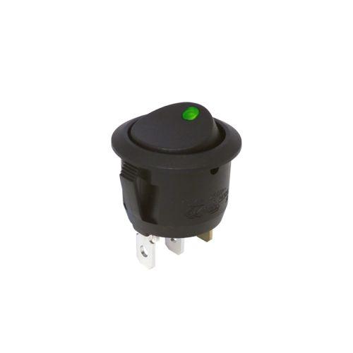 Mini Snap-In Rocker Switch - 3 Pin - Round - 12 volt DC