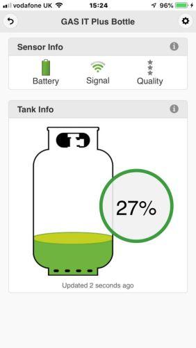 10 x Single Gas Level Bluetooth Ultrasonic Gas Level Sensor.
