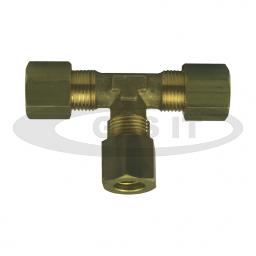 Brass 8mm O/D Equal 'T' Female Nuts