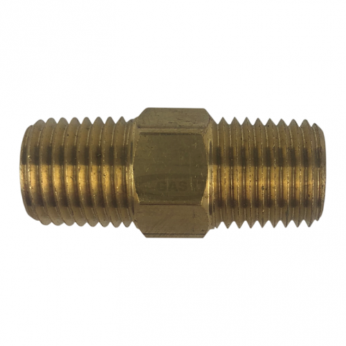 Airline Equal Union Connector 1/4 BSPT Brass