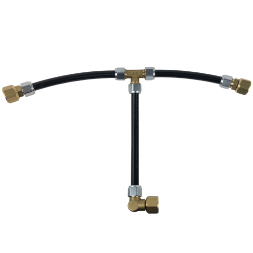 GAS IT Lightweight Twin Bottle Connection Kit with Combined Fill hose