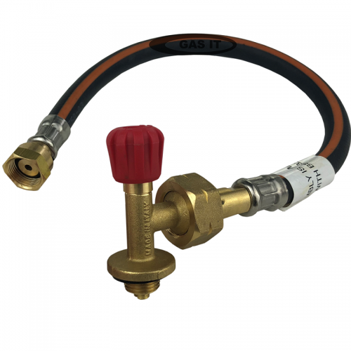 Gas bottle tap fitting and pigtail