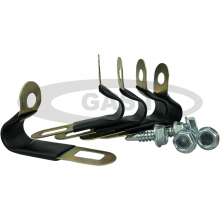Pack of 5 - 6/8 P Clips for Thermoplastic pipe & Zinc Plated Hexagonal Head Self Tapping Screws