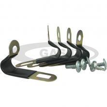 Pack of 5 - 6/8 P Clips for Thermoplastic LPG pipe & Zinc Plated Cross Head Self Tapping Screws