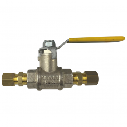 1/4'' Lever Arm Ball Valve with 2 x 8mm Compression Fittings