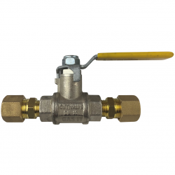 1/4'' Lever Arm Ball Valve with 2 x 10mm Compression Fittings