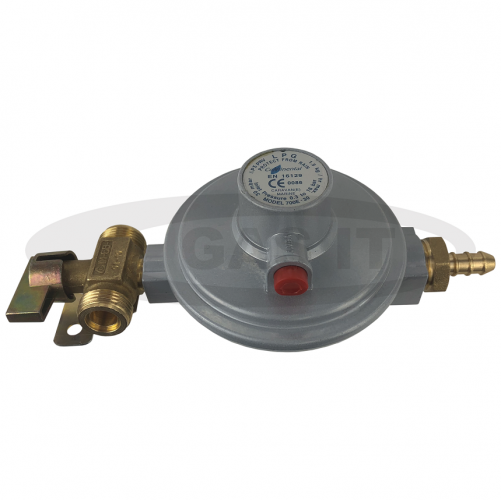 30mb Regulator With 2 x W20 Manual Change Over Tap Inlet And 8mm I.D Hose Nozzle Outlet