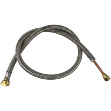 450mm W20 x 1/2UNF S/S pigtail for ELECTRIC Outlet Tanks.