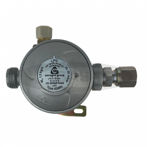 Cavagna 30mb 2 Stage Regulator 10mm Straight outlet