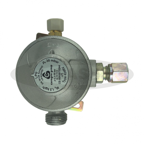 Cavagna 30mb 2 Stage Regulator Angled 10mm outlet