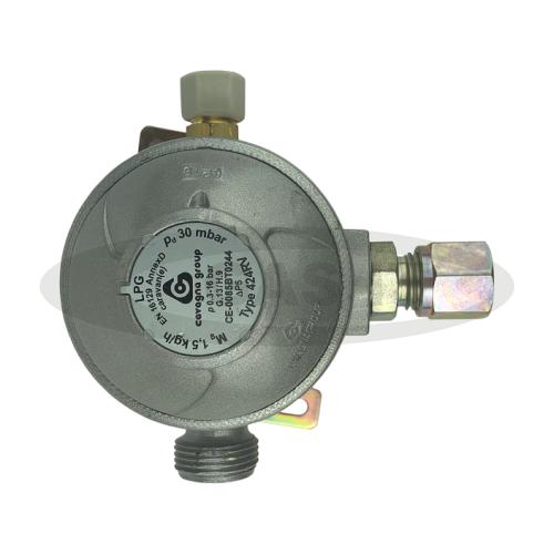 Cavagna 30mb 2 Stage Regulator 8mm Angled outlet