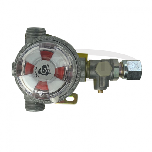 Micro 30mb Regulator with built in Auto Change over Valve - 10mm Gas outlet