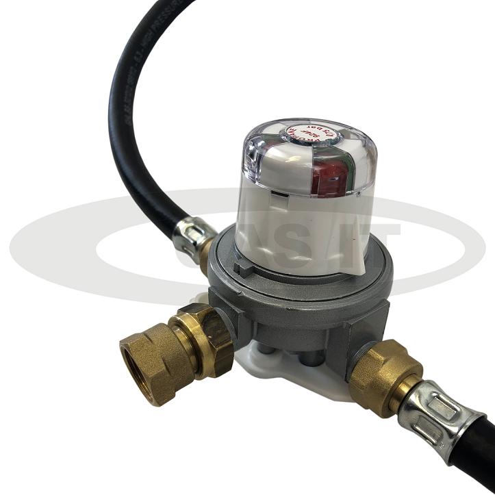 Changeover valves.