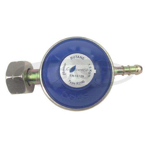 28/29mbar Low Pressure Regulator with 8mm Hose Outlet