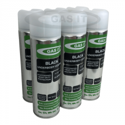 6 X GAS IT Black Gas Tank & Underbody Coating Spray 500ml