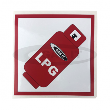 Gas Bottle LPG Gas Locker Sticker