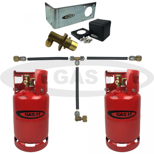 11kg Twin Gen2 Bottle Kit & EASYFIT Fill System with Gas Level Indicator Option