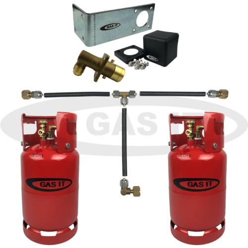 11kg Twin Gen2 Bottle Kit & EASYFIT Fill System With 2 x Bluetooth Gas Level Sensors