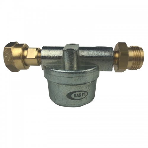 Direct to Bulkhead Regulator GAS IT Vapour Filter (W20 Male in x W20 Female Out)