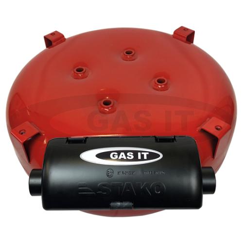 EASYFIT-ELECTRIC 600mm X 230mm 55LTR SPARE WHEEL SHAPED VAPOUR TANK