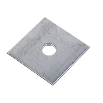 50mm Square Plate x 2mm Thick x 10mm hole
