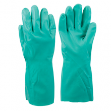 Nitrile Gauntlet Safety Gloves