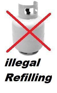 The dangerous practice of refilling Exchange Gas bottles.