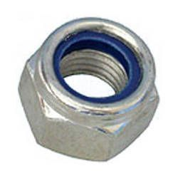 M10 Steel Nylock Nut x 10